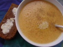 carrot-soup-and-pumpernickel-bread