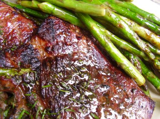 grilled cow and hadley grass