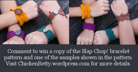 Comment to win a copy of the pattern and a finished sample! - visit ChickenBetty.wordpress.com for more details